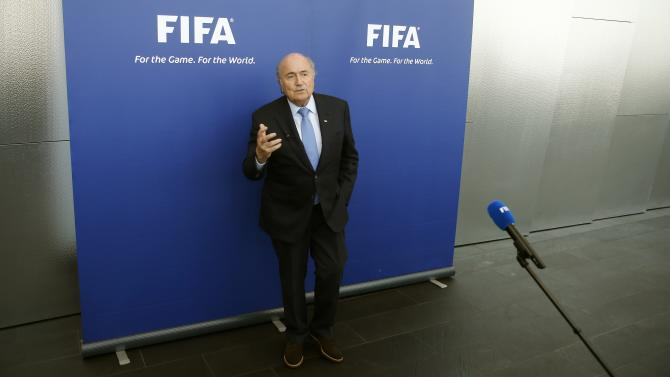 FIFA President Sepp Blatter addresses the media in Zurich