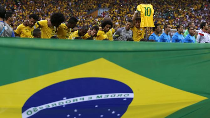 World Cup - Neymar sends good luck message to Brazil team mates