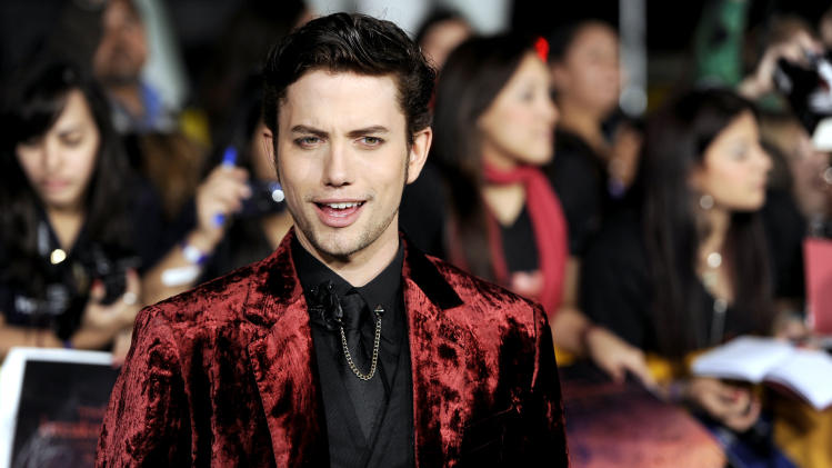"Jackson Rathbone arrives at the world premiere of ""The Twilight Saga: Breaking Dawn - Part 1"" on Monday, Nov. 14, 2011, in Los Angeles. (AP Photo/Chris Pizzello)"