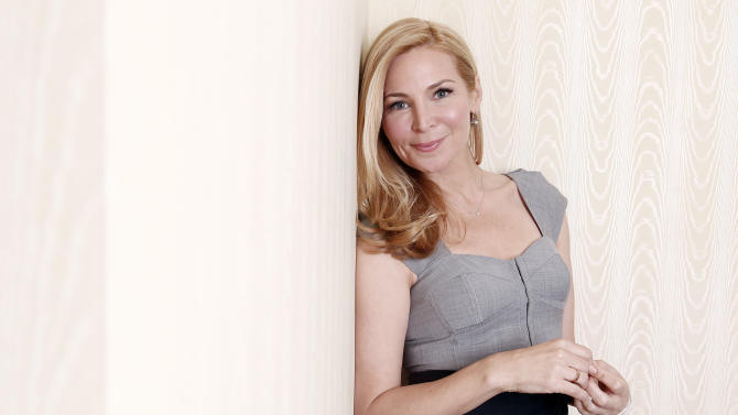 "Actress, writer, and director Jennifer Westfeldt poses for a portrait on Monday, March 5, 2012, in New York. Westfeldt's latest film ""Friends with Kids,"" opens on Friday. (AP Photo/Carlo Allegri)"