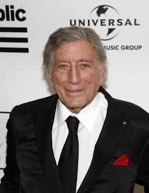 Singer Tony Bennett attends the 2013 Amy Winehouse Foundation Inspiration Awards and Gala on Thursday March 21, 2013, at the Waldorf Astoria Starlight Room in New York. (Photo by Andy Kropa/Invision/AP)