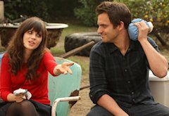 Zooey Deschanel and Jake Johnson | Photo Credits: Patrick McElhenney/Fox