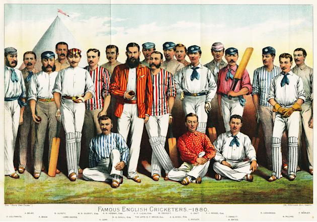 'Famous English Cricketers, 1880'