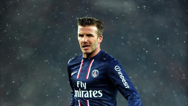 Football - Beckham eyes starting spot after debut