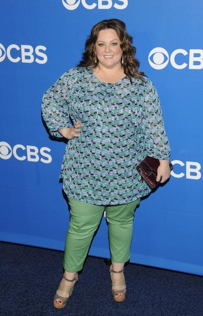 Melissa McCarthy is all smiles at the CBS Upfront 2012 at Lincoln Center in New York City on May 16, 2012  -- Getty Images