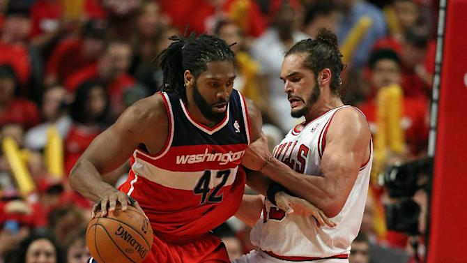 Nene dominates, Wizards rally past Bulls, 102-93