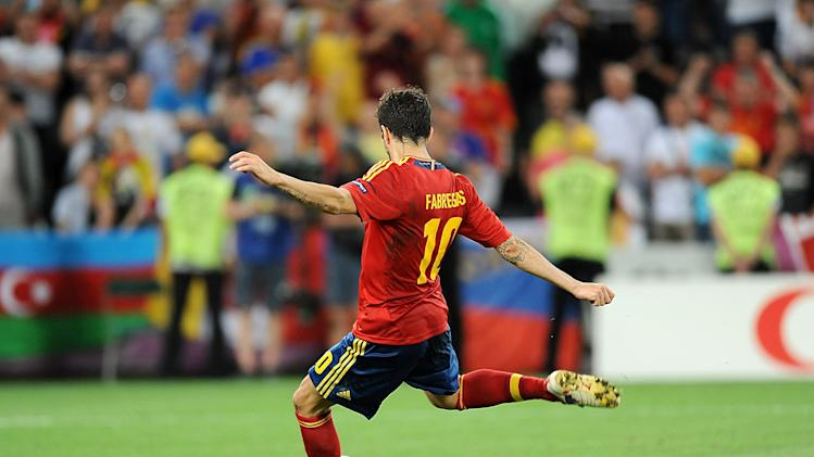 Cesc Fabregas struck the decisive spot kick for Spain against Portugal