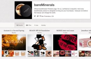 5 Brands Using Pinterest Right and How to Learn from Them image bareminerals pinterest