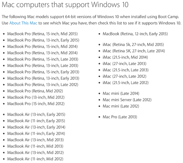 一機通吃 Win 10 + OS X!Apple 正式支援 Windows 10