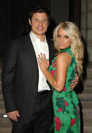 Nick Lachey and Jessica Simpson at the Home of Eva and Michael Chow in Beverly Hills, California in 2005 -- Getty Premium