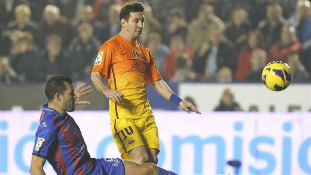 Liga - Messi's record pursuit put on hold