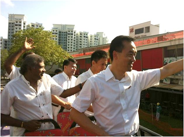 Despite their loss in Punggol East, the mood is jovial on the bus for PAP's thank you tour.