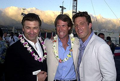 Premiere: Alec Baldwin, Michael Bay and Ben Affleck aboard the USS John C. Stennis at the after-party for the Honolulu, Hawaii premiere of Touchstone Pictures' Pearl Harbor - 5/21/2001