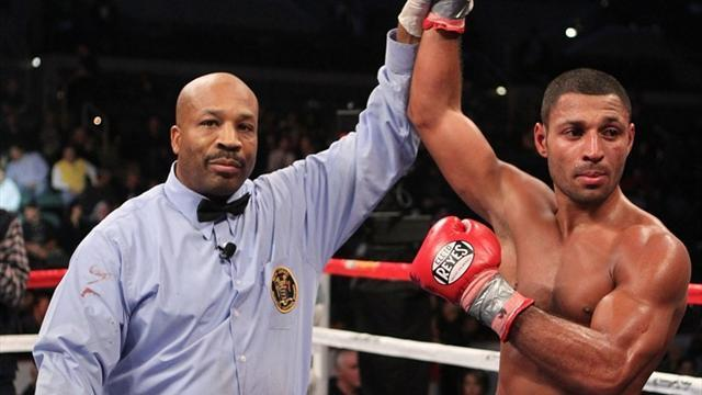 Boxing - Brook stops Senchenko to earn world title shot
