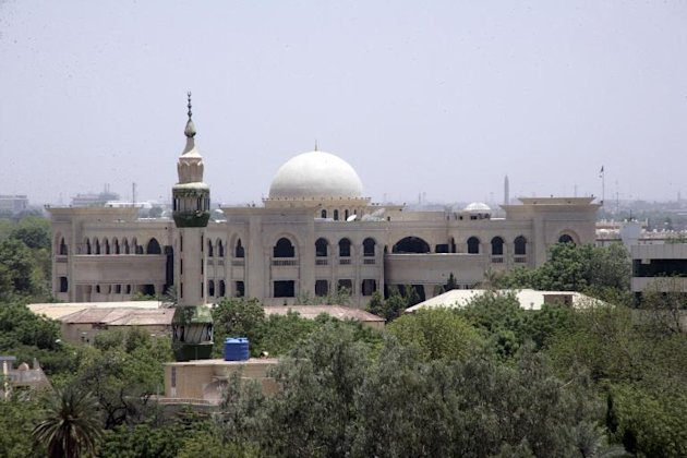 View of the Sudanese Presidential Palace in Khartoum