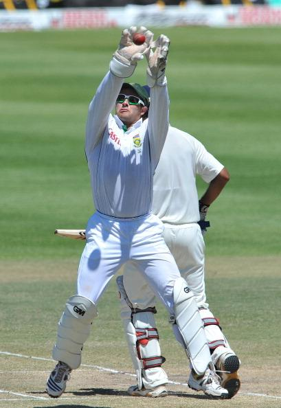 CAPE TOWN, SOUTH AFRICA - JANUARY 06: Mark Boucher of South Africa in action during day 5 of the 3rd Test match between South Africa and India at Newlands Stadium on January 06, 2011 in Cape Town, Sou