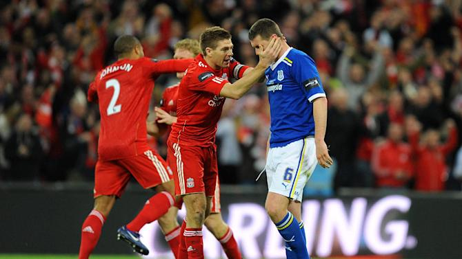 Steven Gerrard (centre) and Anthony Gerrard (right)