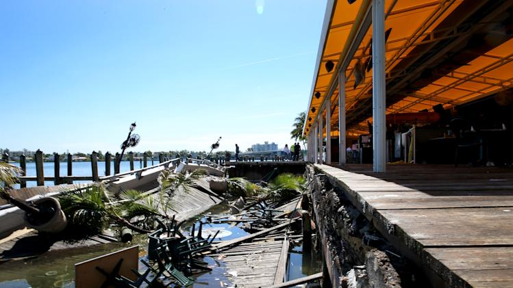 Deck Collapses At Waterfront Bar During NBA Finals