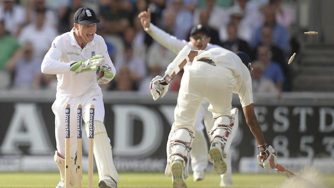 Cricket - England hammer India in fourth test