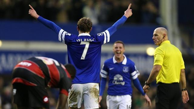 Football - Jelavic brace caps Toffees win