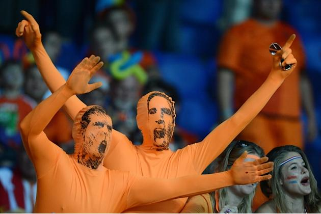 Fans From Netherlands Cheer Prior To The Begining Of The Euro 2012 Football Championships AFP/Getty Images