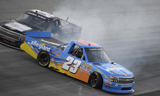 Reddick takes charge late to win Truck Series race at Dover