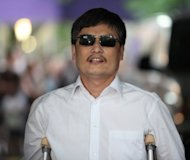 "Chen Guangcheng, a self-taught lawyer who exposed abuses in China's ""one-child"" population policy, arrived in the United States on Saturday after last month escaping unlawful house arrest and taking refuge at the US embassy in Beijing"