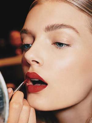 Bold lips for Fall! Photo courtesy of Allure.com