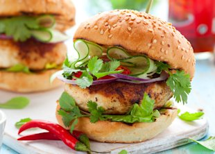 Spicy Bleu Cheese Chicken Burger Recipe