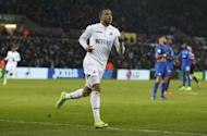 Football Soccer Britain - Swansea City v Leicester City - Premier League - Liberty Stadium - 12/2/17 Swansea City's Martin Olsson celebrates scoring their second goal Action Images via Reuters / Paul Childs Livepic