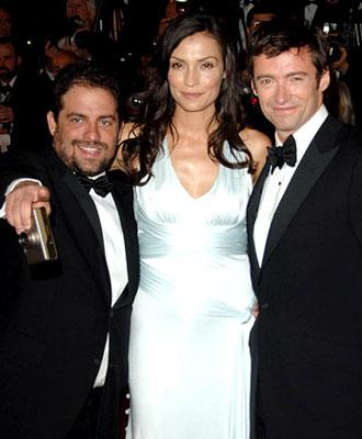 Director Brett Ratner , Famke Janssen and Hugh Jackman at the 2006 Cannes Film Festival premiere of 20th Century Fox's X-Men: The Last Stand