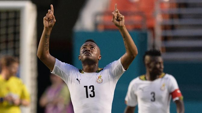 World Cup - Ayew treble helps Ghana thrash South Korea in warm-up