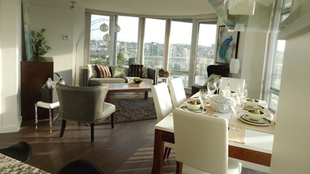Images of this Yaletown condo were posted with a rental offer, despite the unit being up for sale by its owner. (CBC)