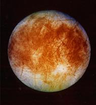 FILE - This image released by NASA's Jet Propulsion Laboratory in Pasadena, Calif. on Nov. 12, 1996 shows Jupiter's ice-covered moon, Europa, from the Galileo spacecraft. NASA said Tuesday, March 4, 2014 it is making preparations to plan a robotic mission to Jupiter's watery moon Europa, a place where astronomers speculate there might be life. The space agency set aside $15 million in its 2015 budget proposal to start planning a mission to Europa. No details were released but NASA chief financial officer Elizabeth Robinson said Tuesday that it would be launched in the mid-2020s. (AP Photo/NASA, Jet Propulsion Laboratory)