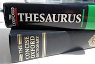 A generic picture of an English dictionary and a thesaurus. OFFPO REUTERS/Catherine Benson/Files