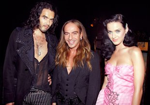 Russell Brand, John Galliano and Katy Perry attend John Galliano Pret a Porter show as part of the Paris Womenswear Fashion Week Spring/Summer 2010