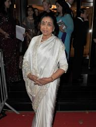 LONDON, ENGLAND - OCTOBER 18: Asha Bhosle attends The Asian Awards 2011 at Grosvenor House, on October 18, 2011 in London, England. (Photo by Ferdaus Shamim/Wire Images for The Asian Awards)