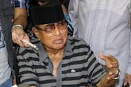 The self-proclaimed Sultan of Sulu, Jamalul Kiram speaks to the press in Manila on March 4, 2013. Followers of the 74-year-old Manila-based Islamic leader say gunmen are ready to die to defend his claim to Sabah. The exact identities of the gunmen and their numbers remain a mystery