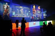 A group of people onstage demonstrate the the PlayStation All-Stars Battle Royale at the Sony press conference on the eve of the Electronic Entertainment Expo (E3) on June 4, 2012 in Los Angeles, California