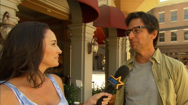Laura Saltman and Ray Romano on the set of NBC's 'Parenthood' -- Access Hollywood