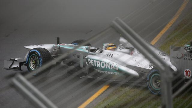 Formula 1 - Hamilton spins off as Melbourne qualifying postponed