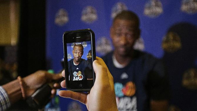 Houston Rockets' Terrence Ross takes questions during the NBA All Star basketball news conference, Friday, Feb. 14, 2014, in New Orleans. The 63rd annual NBA All Star game will be played Sunday in New Orleans