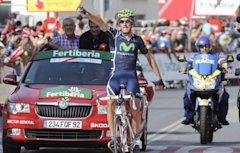 Photo 1 - Pablo Lastras Of The Movistar Team Celebrates AFP/Getty Images