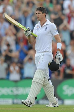 Kevin Pietersen celebrates his 100 for England against South Africa at Headingley - his last for his country