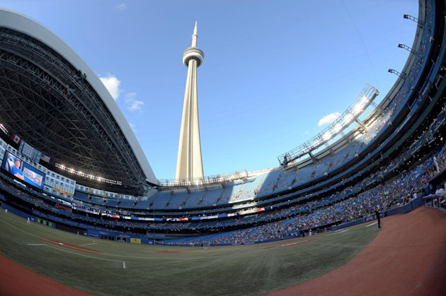 Rogers Stadium, home of the Toronto Blue Jays, and the CN Tower. (Peter Llewellyn-USA TODAY Sports)