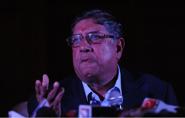 BCCI chief Srinivasan addresses media