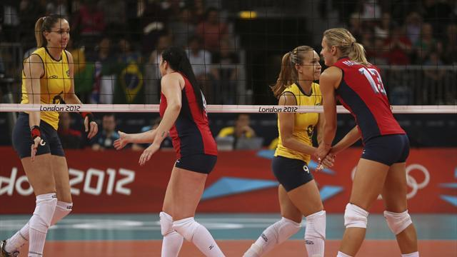 Olympic Games - US defeat Brazil in Olympic women's volleyball