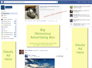 What's Up With The New Ad Filled Facebook News Feed Layout? image facebook flash ad malware 2 550x412