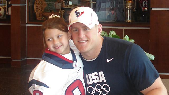 Texans' Lineman 'Marries' 6-Year-Old Fan for a Day