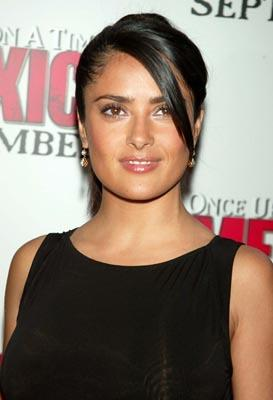 Salma Hayek at the New York premiere of Columbia's Once Upon a Time in Mexico